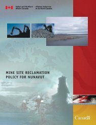Mine Site Reclamation Policy for Nunavut - Nunavut Tunngavik Inc.