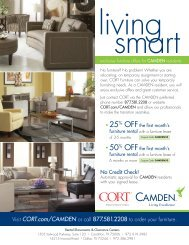 exclusive furniture offers for CAMDEN residents
