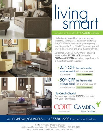 Charmant Exclusive Furniture Offers For CAMDEN Residents