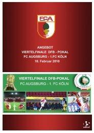 ANGEBOT VIERTELFINALE DFB - POKAL FC ... - B4B SCHWABEN