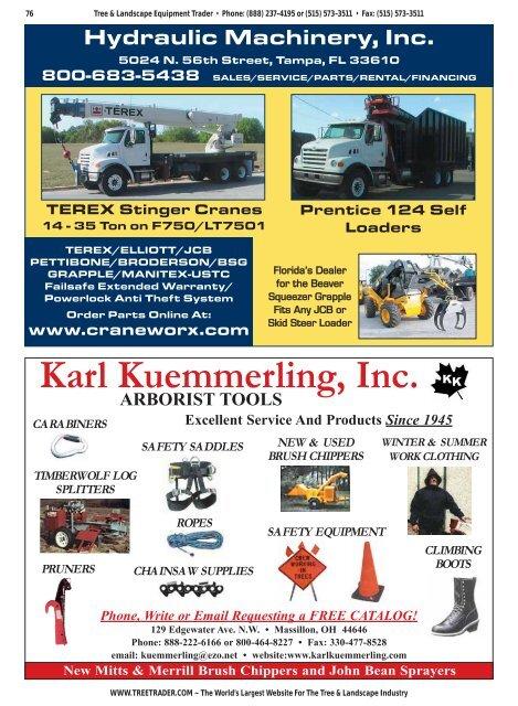 Karl Kuemmerling, Inc  - Tree & Landscape Equipment Trader