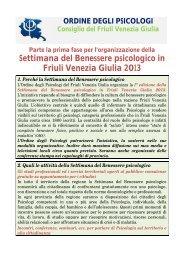 Settimana del Benessere psicologico in Friuli Venezia Giulia 2013