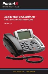 Packet8 Residential & Business Self Service User Guide