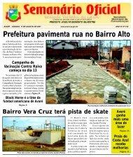 Prefeitura pavimenta rua no Bairro Alto - Câmara Municipal da ...
