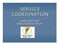 SERVICE COORDINATION - HomeGround Services