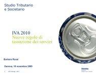 Nuova regola di territorialità IVA per i servizi - Confindustria Genova
