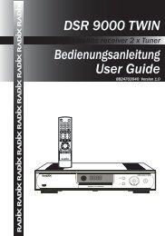 DSR 9000 TWIN Bedienungsanleitung User Guide - Radix