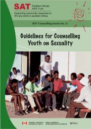 Guidelines for counselling youth on sexuality - Southern African ...