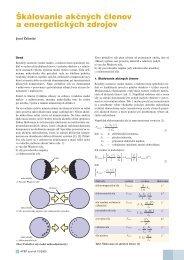 Škálovanie akčných členov a energetických zdrojov - ATP Journal