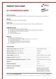 PRODUCT DATA SHEET XF 5 INTERMEDIATE SERIES -