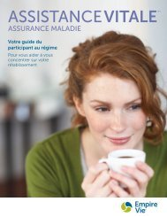 Assistance vitale – Guide du produit à l'intention du participant