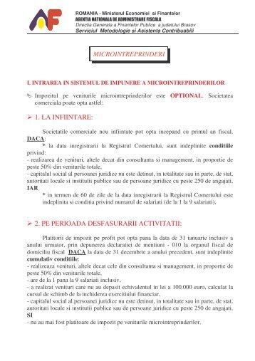 MATERIAL MICRO - Finante Publice Brasov