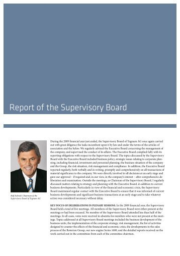 Report of the Supervisory Board 2009