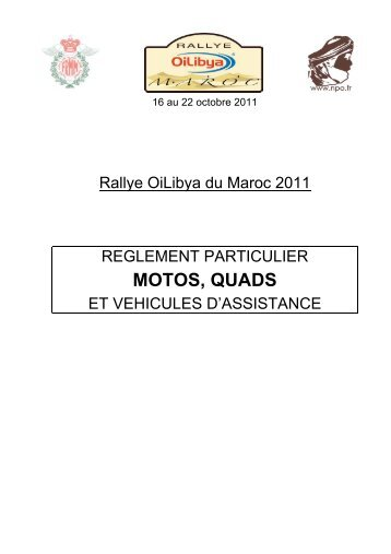 MOTOS, QUADS - Rallye du Maroc 2013 - NPO
