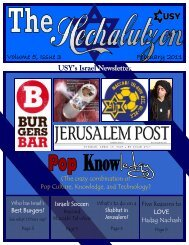Issue #1 - United Synagogue Youth