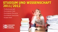 STUDIUM UND WISSENSCHAFT 2011/2012