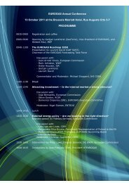 EUROGAS Annual Conference 13 October 2011 at the Brussels ...