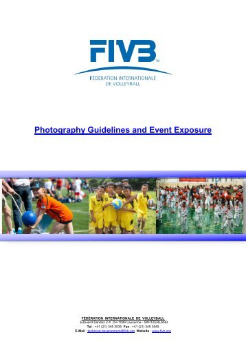 Photography Guidelines and Event Exposure - FIVB