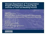 Roadway New Capacity and Economic Development projects