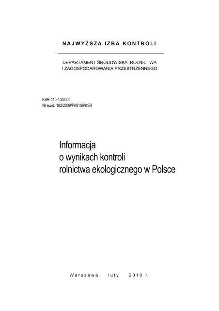 szczegółowe informacje (plik PDF) - Najwyższa Izba Kontroli