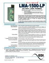 EDI LMA-1500-LP Ultra Low Power Inductive Loop ... - Temple, Inc.