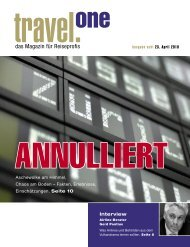 Ausgabe Acht 23. April 2010 Travel. One Das
