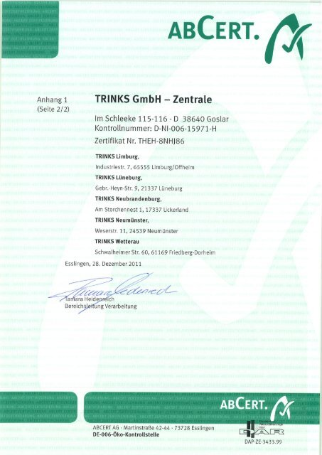 ABCERT. - trinks GmbH