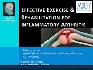 Exercise & Rehabilitation – Peter Larmer - Arthritis New Zealand