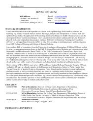 view Dr. You's CV - Institute for Health Care Studies (IHCS ...
