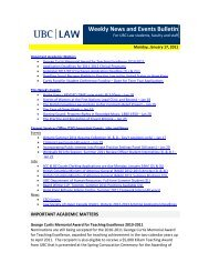 Weekly News and Events Bulletin - University of British Columbia ...
