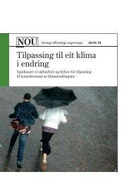 Tilpassing til eit klima i endring - Klimatilpasning