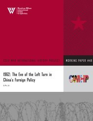 1962: The Eve of the Left Turn in China's Foreign Policy - Claude Arpi