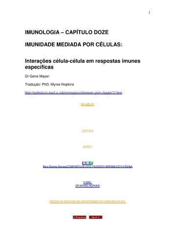 CAPÍTULO DOZE IMUNIDADE MEDIADA POR CÉLULAS - Unesp