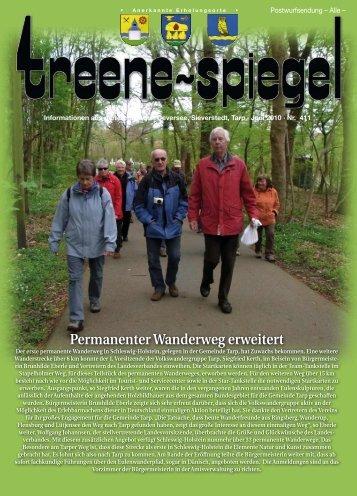 Permanenter Wanderweg erweitert - Treenespiegel
