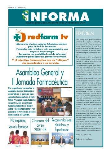 redfarm tv - Colegio Oficial de Farmacéuticos de la Región de Murcia