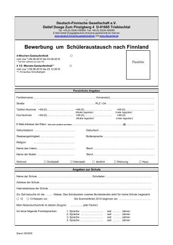 Bewerbungsbogen2010 - DFG Portal