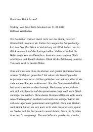 Kann man Glück lernen? Vortrag von Ernst Fritz-Schubert am 31.01 ...