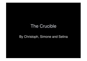 Crucible Essay Outline The Crucible