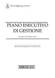 PIANO ESECUTIVO DI GESTIONE - Comune di Borgo San Lorenzo