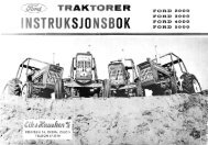 Page 1 FORD 2000 TRAKTORER FORD 3000 FORD 4000 FORD ...