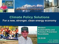 Climate Policy Solutions - Western Sustainability and Pollution ...