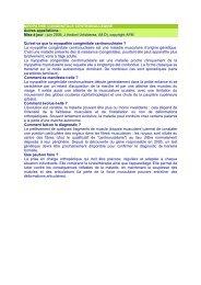 Myopathie congénitale centronucléaire - ASRIM