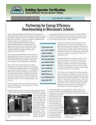 Partnering for Energy Efficiency Benchmarking in Wisconsin's Schools
