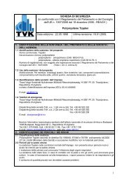 1 SCHEDA DI SICUREZZA (in conformità con il Regolamento ... - TVK