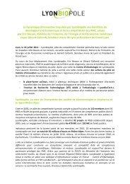 Lire le communiqué de presse - Lyonbiopôle