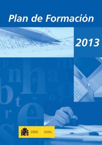 Plan de Formación 2013 del Ministerio de Fomento