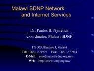 SDNP - AIMS