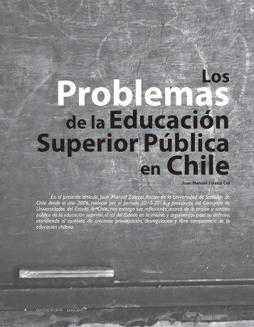 Los problemas de la educación superior pública ... - Revista Docencia