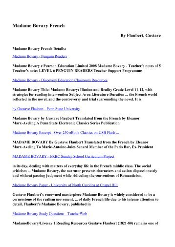 Madame bovary study questions teacherweb download madame bovary french pdf ebooks by flaubert gustave fandeluxe Image collections