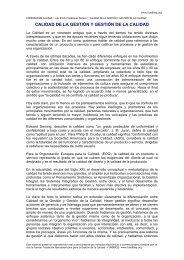CALIDAD DE LA GESTIÓN Y GESTIÓN DE LA CALIDAD